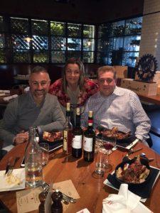 Cena con vini toscani in USA